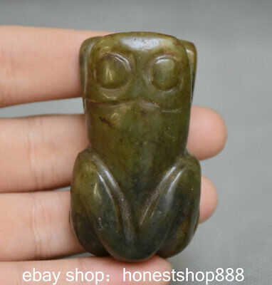 "2.2"" Rare Good China hongshan culture Old jade Carved Animal frog Pendant Statue"