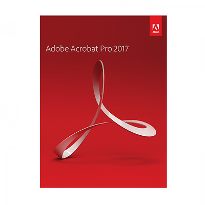 Adobe Acrobat Pro Professional 2017 for 2pc installs Perpetual product license