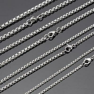 18''-32'' Lot 10pcs in bulk  Stainless Steel Silver Rolo Link  Chain Necklace