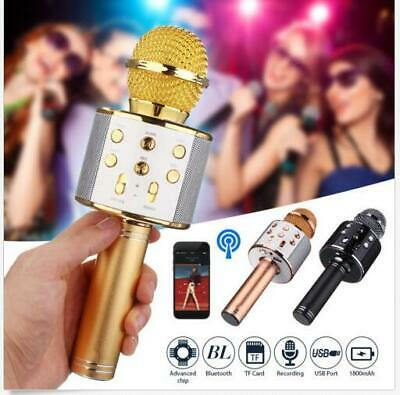 Handheld WS-858 Karaoke Wireless Bluetooth Microphone Speaker MIC USB Player KTV