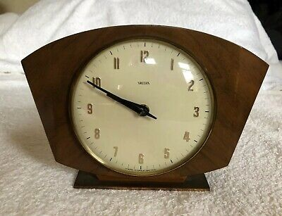 Vintage Smiths Wood Cases Art Deco Mantle Clock (not working)