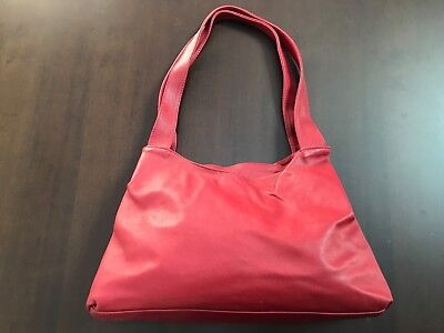 Borsa Maxima Rossa Vintage In Pelle Made In Italy