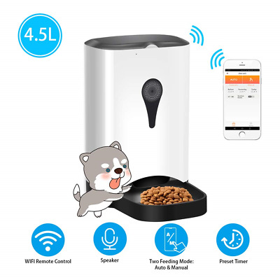 UUNITONA Automatic Pet Feeder for Cats Dogs, Smart Food Dispenser with WIFI App