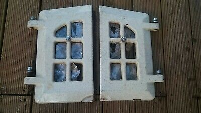 Antique Jupiter Stove Cast Iron Wood Stove Heater Doors