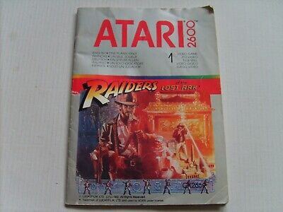 Atari 2600 Raiders Of The Lost Ark Instruction Manual Only