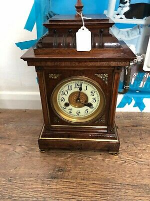 Antique Wind Up Austrian Clock 1870 Working