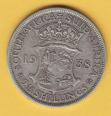 South Africa  2-1/2 Shilling  1938  KM 30  F-VF