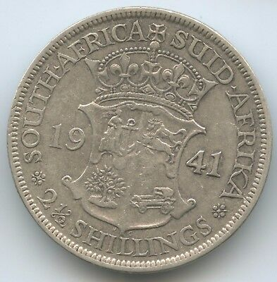 G9529 - Südafrika 2½ Shillings 1941 KM#30 Silber RAR George VI. South Africa