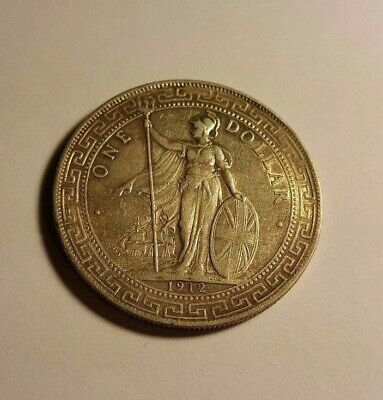 Britannia Holding Trident and Shield 1 Hong Kong Dollar Chinese / Malay Script