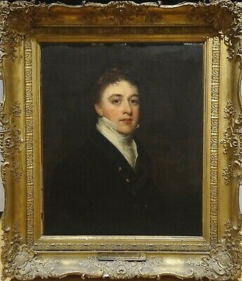 Large 19th Century Portrait  Young Gentleman Joseph Walker - Sir Thomas Lawrence