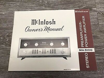 MCINTOSH MA5100 MA-5100 MA 5100 front glass replacement upper panel