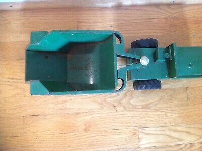 Structo Rocker Pressed Steel Construction Vehicle 1950's Green works Original