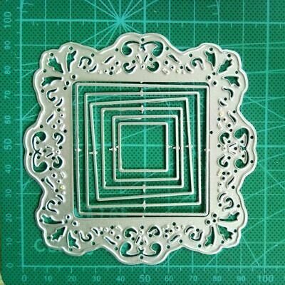 Lace Square Frame Scrapbooking Metal Cutting Dies Craft DIY Card Embossing Decor