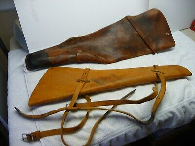 """Vintage Leather Winchester Rifle Shotgun Scabbard Hunting Case Western Fits 30"""""""