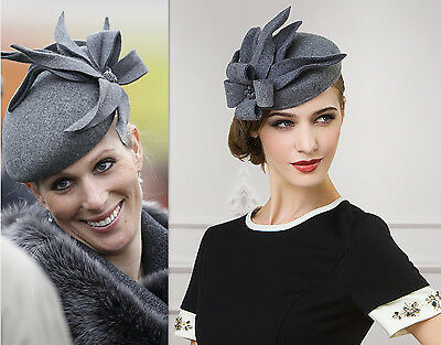 Felt Wool Fascinator Cocktail Wedding Royal Ascot Race Day Ladies Hat A302