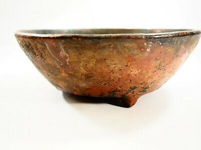 Rare Mayan tripod sacrificial Blood Bowl Mexico 300-600 AD CAA48