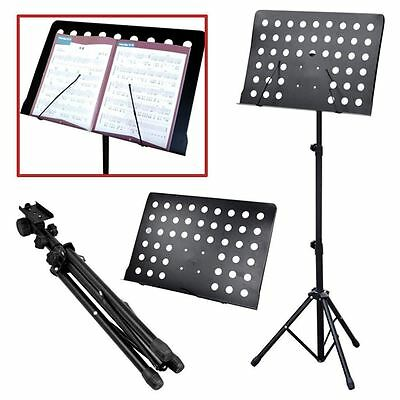 Orchestral Sheet Music Stand Heavy Duty Conductor Foldable Adjustable Tripod