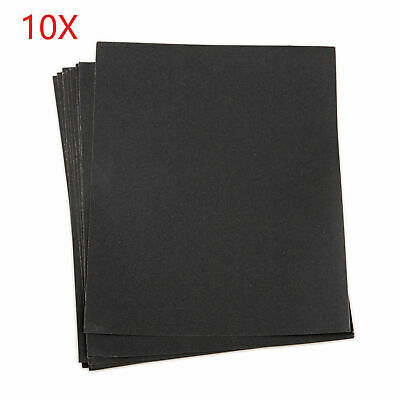 10X Sandpaper Wet&Dry sheets 9 x 11 For 280/400/1000/1500/2000 Grit Hot sale