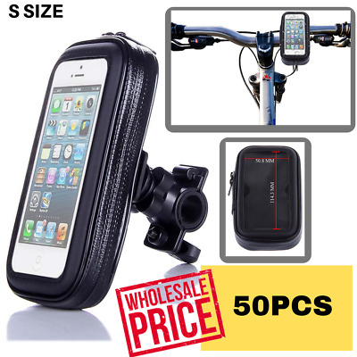BUNDLE 50 X S Size Bike Bicycle Handlebar Mount Holder Waterproof Bag Pouch