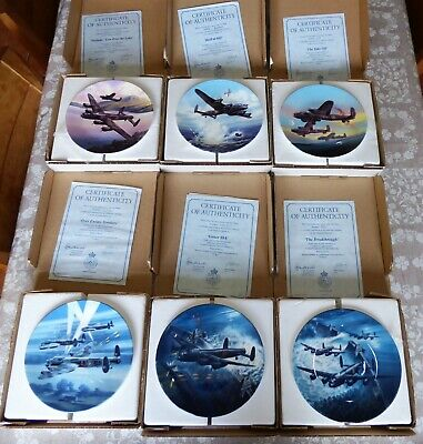 """Royal Worcester The Dambusters 7.5"""" Plates"""