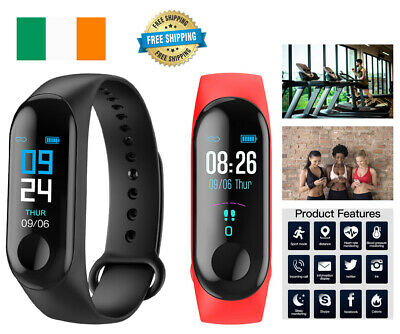 Fitness Activity Tracker Smart Watch Fit Bluetooth Step Fitbit Android iPhone