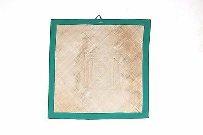 Yoga & Food Eating Small Cane Mat 1980s Old Vintage Antique Collectible X-49