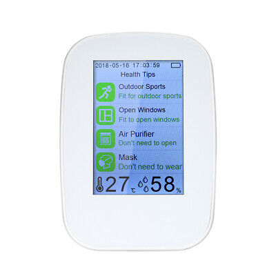 Portable Air Quality Detector Indoor/Outdoor Digital PM2.5 Gas Monitor LCD A0E3