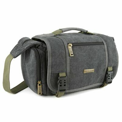 Photography Bag Large Vintage Canvas Messenger SLR Camera case Bag School Travel