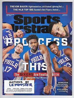 Sports Illustrated February 25 2019 PHILADELPHIA 76ers Trevor Bauer Eddy Hamel