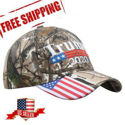 Donald Trump 2020 Camo Embroidered Hat Keep America Great MAGA President Cap 2H