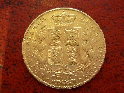 Queen Victoria Young Head Shield Back 22ct Gold Full Sovereign Coin 1842