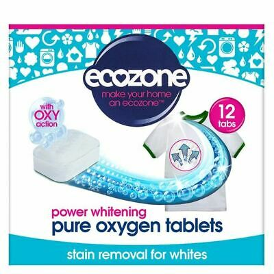 Ecozone Stain Remover & Whitener for Whites Oxy Action 12 Tablets 240g, 4 Pack
