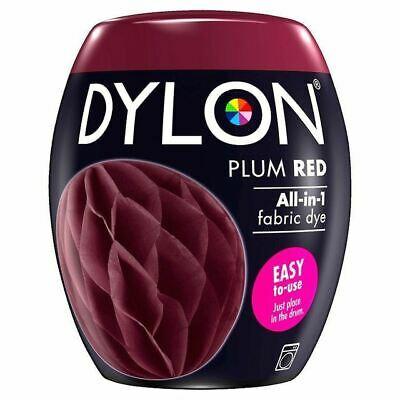 Dylon Machine Dye Pod Plum Red, 3 Pack