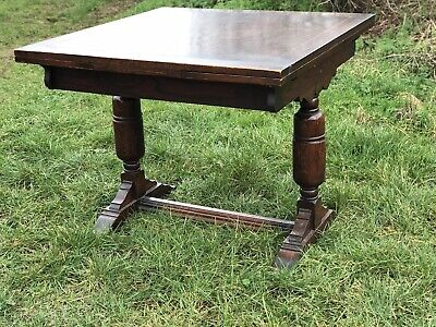 Vintage Oak Solid Wood Draw Leaf Kitchen Dining Table Shabby Chic Upcycle