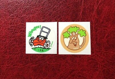 Vintage Trend Matte 80S Scratch And Sniff Sticker Lot
