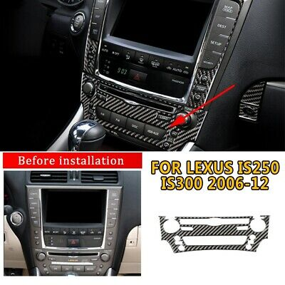 Carbon Fiber Style Interior CD Panel Cover Trim for LEXUS IS250 IS300 2006-2012