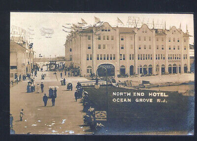 Real Photo Ocean Grove New Jersey North End Hotel Vintage Postcard Copy Nj