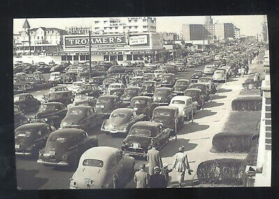 Real Photo Asbury Park New Jersey Downtown Street Scene Cars Postcard Copy