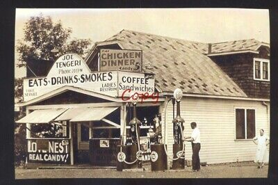 Real Photo Perth Amboy New Jersey Gas Station Store N.j. Postcard Copy