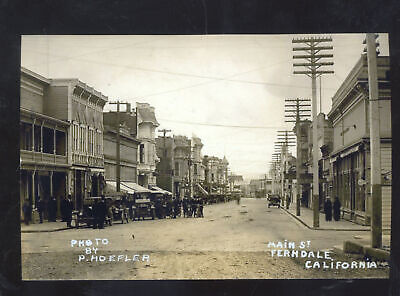 Real Photo Ferndale California Downtown Street Scene Postcard Copy Stores