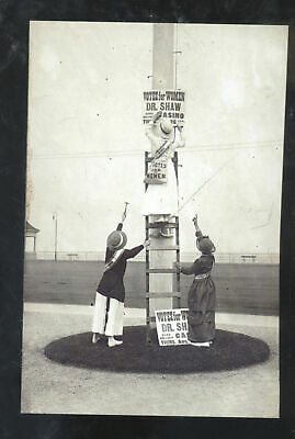 Real Photo Atlantic City New Jersey Suffragette Womens Right Vote Postcard Copy