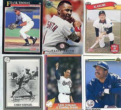 Lot of 50+ Baseball HALL OF FAME - All Different Cards of Cooperstown MLB HOFers