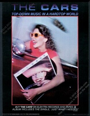 1978 The Cars Just What I Needed record release vintage trade print ad