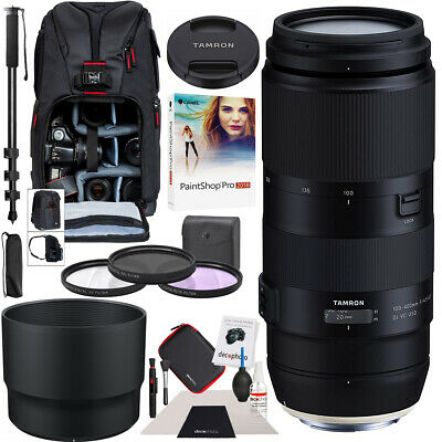 Tamron 100-400mm F/4.5-6.3 Di VC USD Lens for Canon A035 AFA035C Backpack Bundle