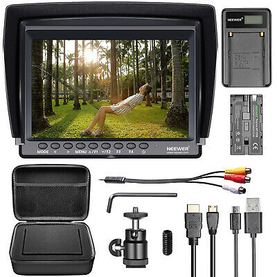 Neewer NW760 Kit Monitor cámara campo 7 pulgadas Ultra HD IPS 1920x1200 pantalla