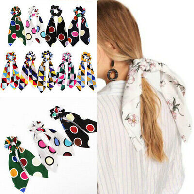 Attractive Ponytail Scarf Bow Elastic Hair Rope Tie Scrunchies Long Hair Bands