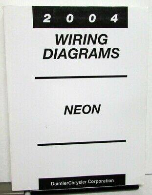2004 dodge neon & srt-4 electrical wiring diagrams shop service manual
