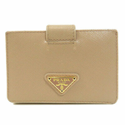 1d252d68 AUTHENTIC PRADA OSTRICH Card Case Light Brown Leather M208 #f00178 ...