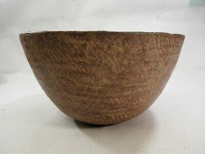 Prehistoric Mogollon/Mimbres Large Corrugated Pottery Bowl New Mex.500-1000A.D