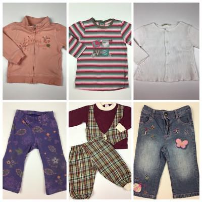 Baby Girls Size 0 Lot Pumpkin Patch Cotton On Target Winter Top Jeans #G301